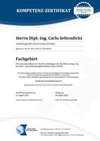 Zertifikat Muster ISO 17024 Schimmelpilze
